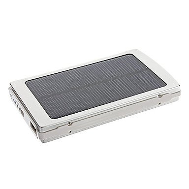 10000mAh Solar External Battery Sliver for Mobile Photo