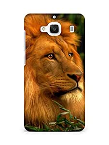 Amez designer printed 3d premium high quality back case cover for Xiaomi Redmi 2 Prime (Abstract Lion 3)