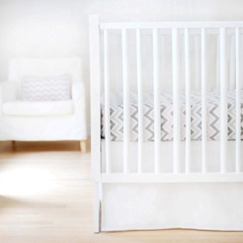 New Arrivals Sweet and Simple Crib Bedding Set, White, 2 Piece