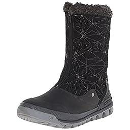 Merrell Women\'s Silversun Zip Waterproof Boot, Black, 8 M US