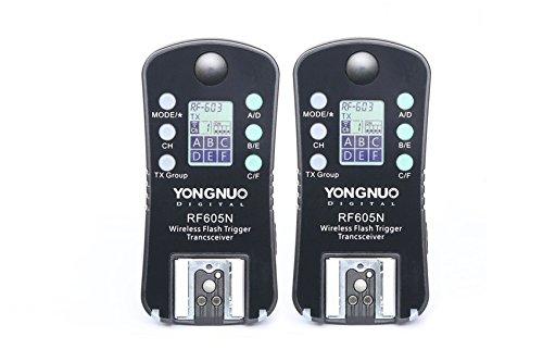 Yongnuo Wireless Flash Trigger & Shutter Release Rf-605N Rf605N For Nikon Dslr D1/D2/D3/D4/D200/D300/D700/D800 Series, D90/D600/D3000/D5000/D7000 Series.