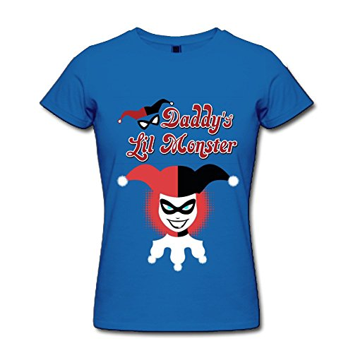 Catees donna Harley Quinn Daddy' s Lil Monster maglietta Blu reale S