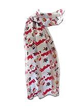 New Company Womens Hohoho Santa Claus Christmas Scarf Ð Silver Ð One Size