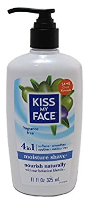 Kiss My Face 4-in-1 Moisture Shave Fragrance Free 11oz Pump