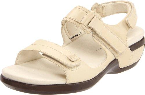 Aravon Women's Katy Fisherman Sandal,Winter White Leather,11 M (B) US