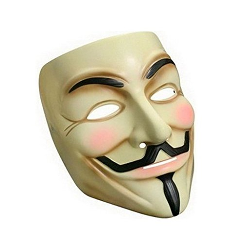 [Aisport Yellow V Vendetta Mask Guy Fawkes Masquerade] (Film Inspired Halloween Costumes)