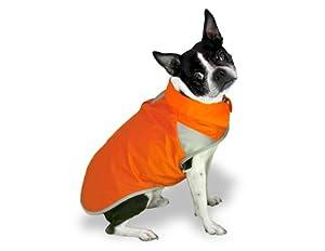 Scooter's Friends Rain Slicker Dog Coat, Size 24, Orange Sherbet