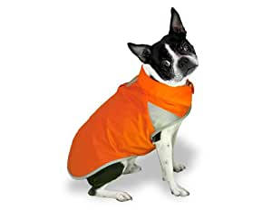 Scooter's Friends Rain Slicker Dog Coat, Size 24, Orange Sherbet