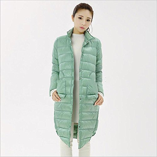 HYY@ Fall/winter wear long loose thermal collar in the plus size fashion down jacket , green , s