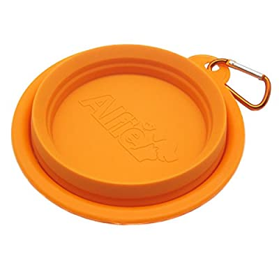 Alfie Pet by Petoga Couture - Rosh Silicone Pet Expandable/Collapsible Travel Bowl with Carabineer for Leash - Size: 1.5 Cups