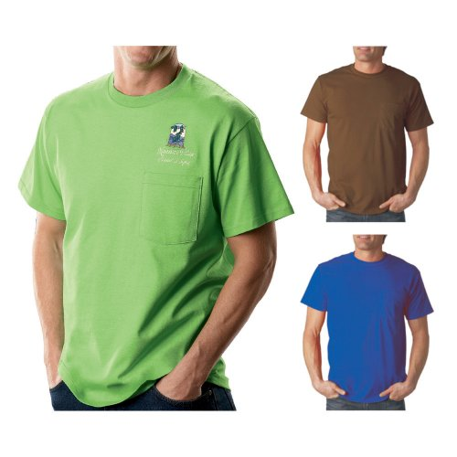 b9523735 Fruit of the Loom - Adult Heavy Cotton Short-Sleeve T-Shirt with Pocket ( 3930P)