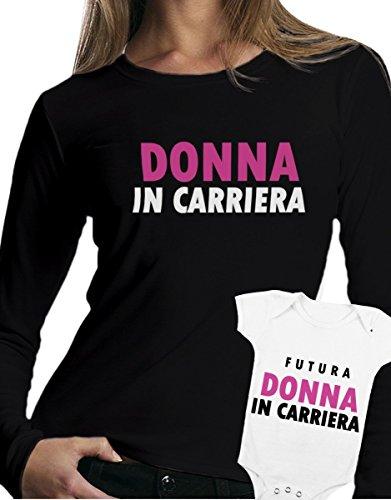 t-shirt manica lunga e body festa della mamma - Donna in carriera, futura donna in carriera -tutte le taglie uomo donna maglietta by tshirteria