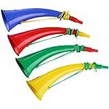 2PCS Sport Match Cheering Props Plastic Horn Trumpet Noise Maker