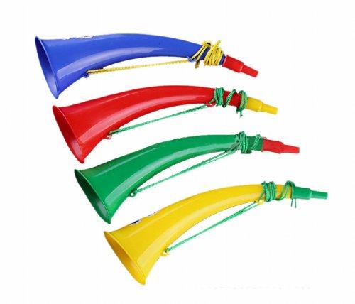 Creatore di Rumore, Tromba, corno di plastica 2pcs Sport partita tifo puntelli plastica corno tromba Noise Maker
