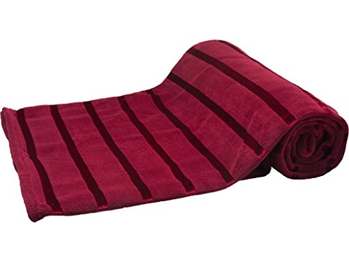 hs-coral-throw-blanket-twinqueen-king-soft-all-seasons-blankets-satin-stripe-burgundy-red-fleece-bed