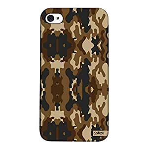 Gobzu Printed Back Covers for iPhone 4 / iPhone 4S - Camouflage - Brown