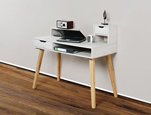 1194-Schreibtisch-Sekretr-in-verschiedenen-Farben-mit-massiven-Fen-wei-antik-eiche-massiv