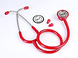 MCP Dual Head Stethoscope Adult (Red)