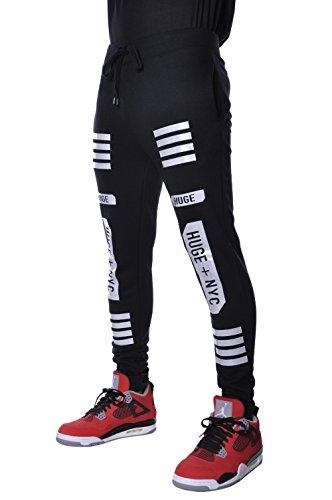 Basic Mens Harem Urban Hip Hop Slim Fit Jogger Pants Medium