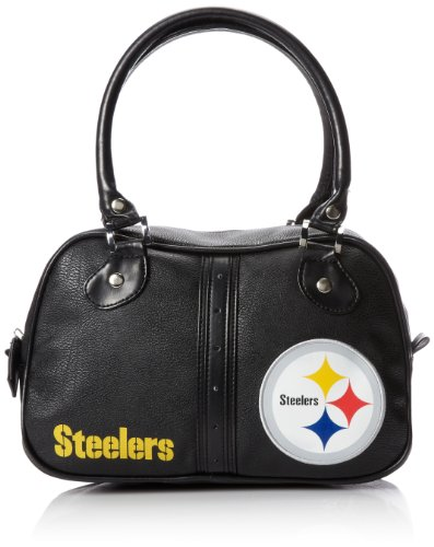 NFL Pittsburgh Steelers Ethel Pebble Handbag, Black/Yellow at Amazon.com