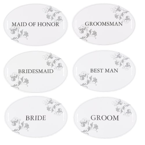 Hortense B. Hewitt Wedding Accessories Wedding Party Chair Decorations, Set of 12