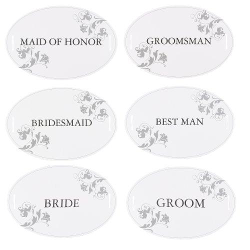 Hortense B. Hewitt Wedding Accessories Wedding Party Chair Decorations, Set of 12