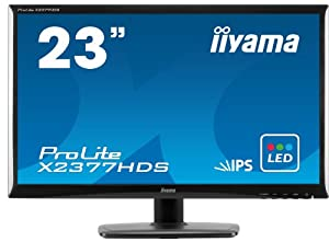 iiyama X2377HDS ProLite 23 inch Full HD LCD Monitor with LED Backlight (1920 x1080, 1000:1, 5ms, 250cd/m2)