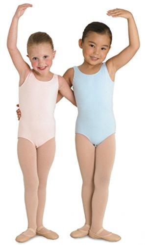 Kinder Ballett Body mit breiten Trägern und rundem Halsausschnitt