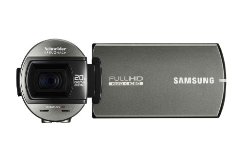 Samsung Q10 Full HD Camcorder - Silver(10x Optical Zoom, Dual Handed Grip) 2.7 inch Touch LCD