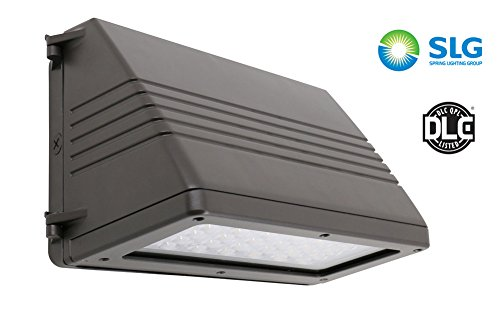 SLG Large Full Cutoff LED Wall Pack Light Fixture 45W (Equivalent 175W HID) , 4900lm Daylight White (5000K) CRI82, 120-277VAC, Outdoor IP65 Waterproof Rated, Dark Bronze Finish, UL DLC Qualified