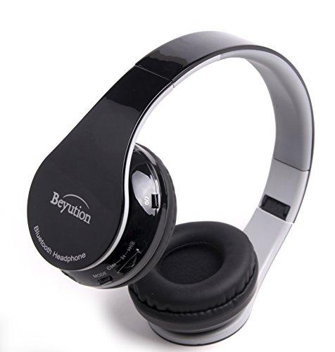 new beyution 513black bluetooth wireless headphones headset bluetooth v4 1 v. Black Bedroom Furniture Sets. Home Design Ideas