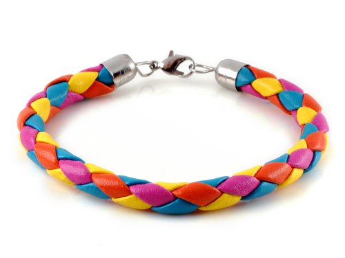 Classic Braided PU Leather Cord Bracelet For Men