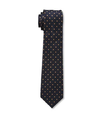 Ben Sherman Men's Dot Tie, Navy/Orange