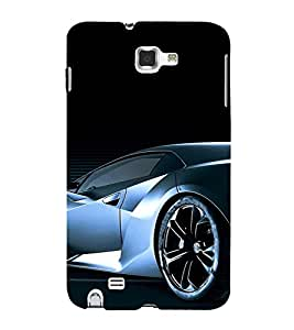 PrintVisa Sports Car Design 3D Hard Polycarbonate Designer Back Case Cover for Samsung Galaxy Note 1