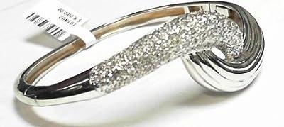 2.10ct Diamond Designer Bangle 14k white gold
