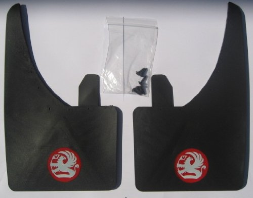 1 (Pair) Vauxhall Mudflaps - Red Griffin Universal Fit Front Or Rear - Astra, Corsa, Nova, Cavalier, Vectra, Meriva, Zafira