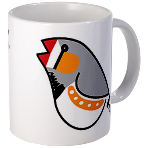 CafePress - Fun Zebra Finch Mug - Unique Coffee Mug, 11oz Coffee Cup (Zebra Teapot compare prices)