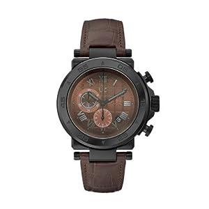 Guess - Reloj de pulsera hombre, piel, color marrón