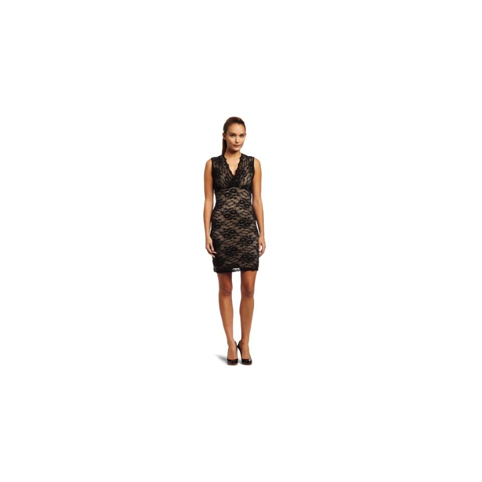 Eight Sixty Womens Solid Stretch Lace Surplus Dress