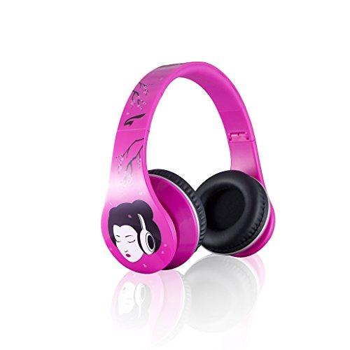 Eagle Tech Arhp300Fz-Pk Urban Zen Dj Style Over-The-Ear Stereo Designer Fasion Headphones-Zen Sound Includes Hard Travel Case