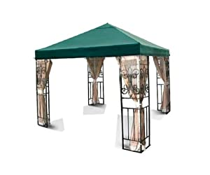 New Outdoor Patio Tivoli 10x10 Green Gazebo Replacement Canopy Top G416