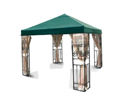 New outdoor patio tivoli 10x10 green gazebo replacement - How to make a gazebo cover ...