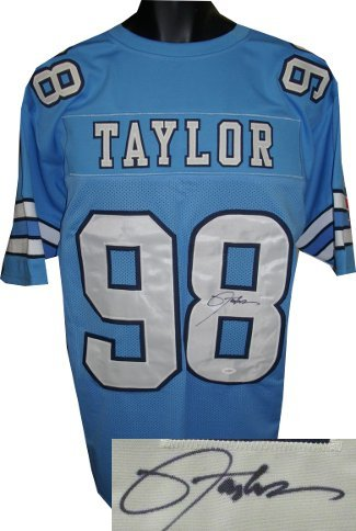 Lawrence Taylor signed North Carolina Tarheels Blue Custom Jersey- JSA Hologram at Amazon.com