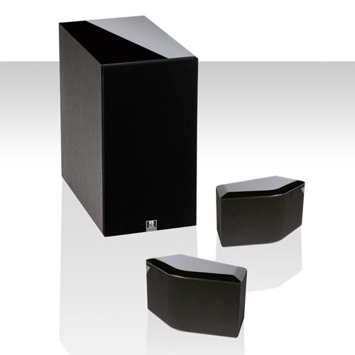 Crystal Acoustics Bps-2.1-8-Bl Compact Bipolar Stereo System With Thx Select Certified Subwoofer