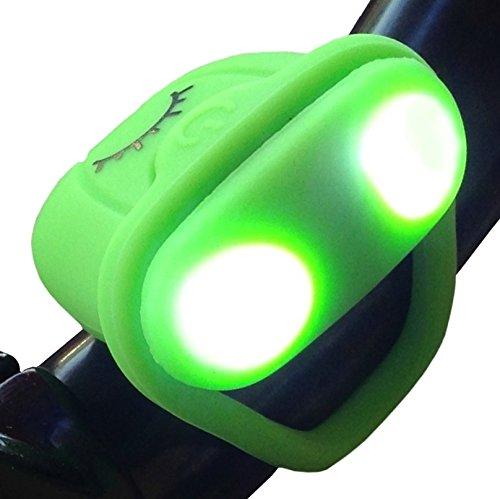 Micro LED Bike Light - No Tool Install - Only 0.4 Ounces - Lightning Frog Bike Light by Huggabe