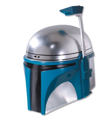 Rubie's Costume Men's Star Wars Deluxe Injection Molded Adult 2-Piece Jango Fett Mask, Multicolor, One Size