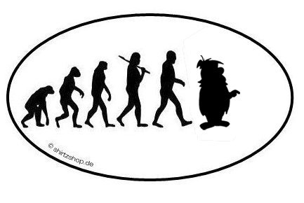 Comic-Fred-EVOLUTION-Aufkleber-Autoaufkleber-Sticker