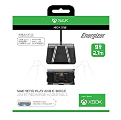 Pdp Energizer Magnetic Play And Charge Cable With Recharge Battery Xbox One