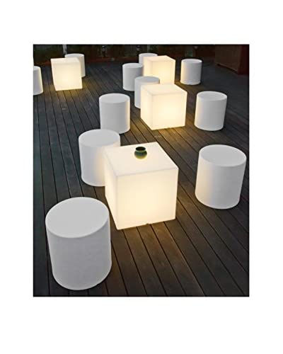 Artkalia Kubbia Moderna Wireless LED Table/Seat, White Opaque
