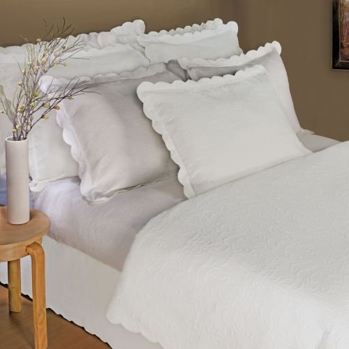 Lamont Home Majestic Matelasse Queen Coverlet, White front-785711